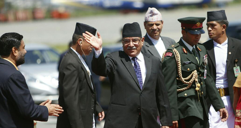 PM Dahal returns home, says India visit fruitful