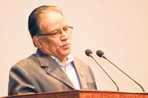 Dahal stresses on consensus for addressing national issues