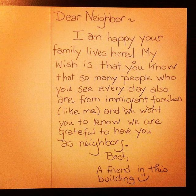 Neighbor reassures Muslim family in US with friendly letter post Trump's win