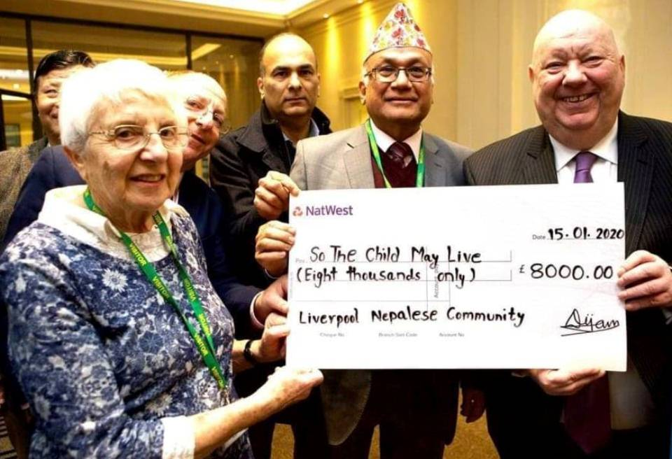 Liverpool Nepali Society raises £19,000 to help improve care of children with cancer at Kanti Children's Hospital