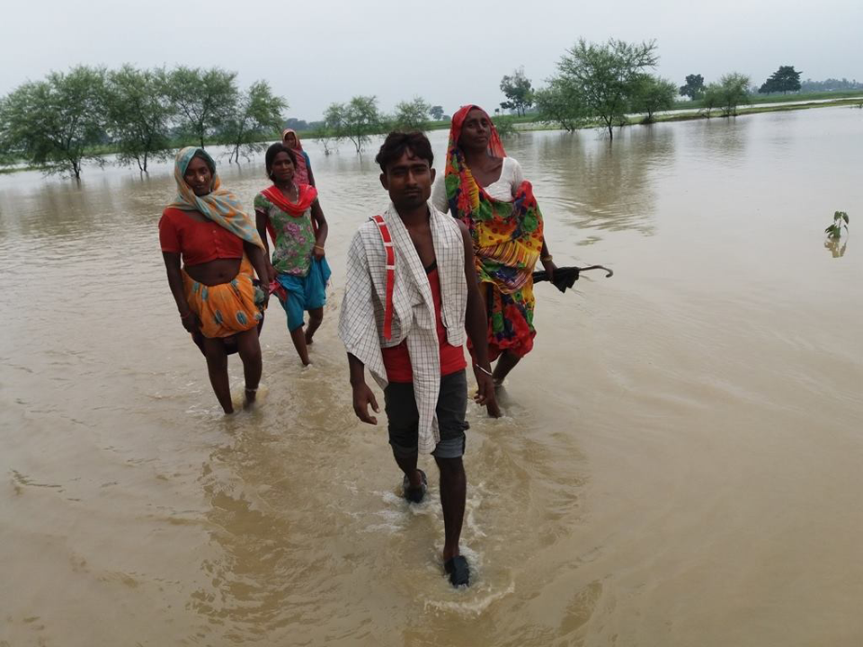 Indian embankment causing inundation in Banke
