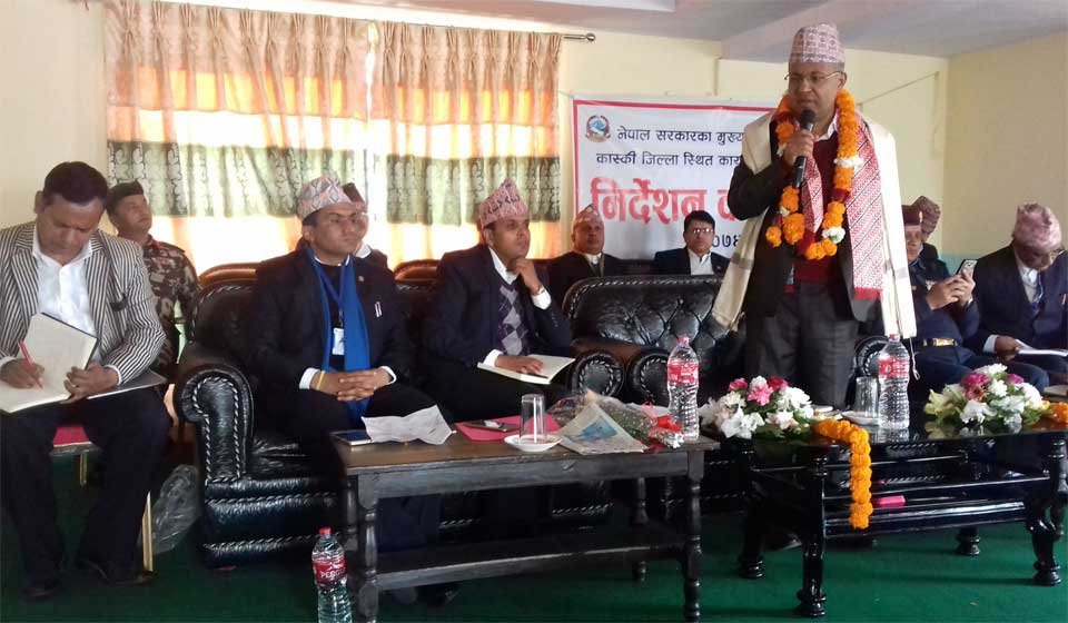 Chief Secretary Regmi directs civil servants to carry out works with high-morale