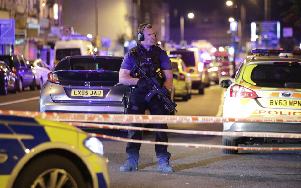 Van rams worshippers leaving London mosque, killing at least one