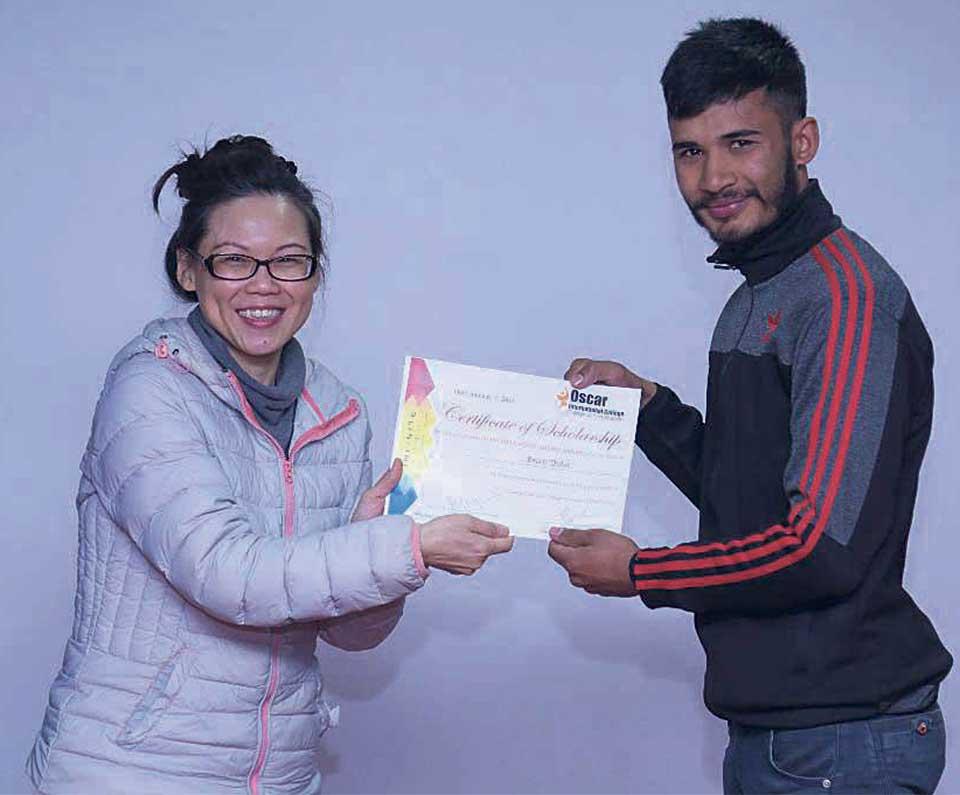 Oscar students awarded Singapore scholarship