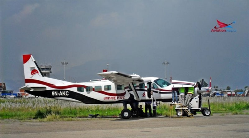 Makalu Air cargo plane crashlands in river, crew safe