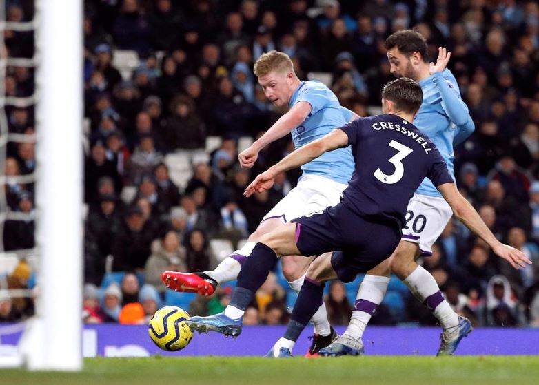 Man City see off West Ham as fans take aim at UEFA