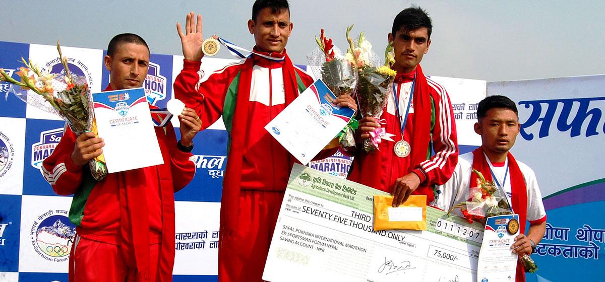 Nepal Army's Rokaya clinches Pokhara International Marathon title