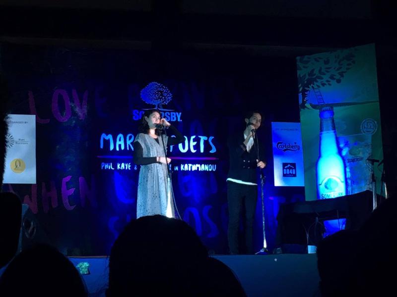 Sarah Kay and Phil Kaye perform in Nepal