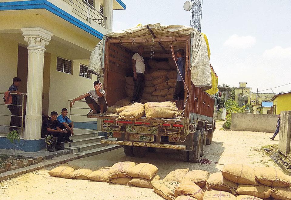 Police seize 12,200 kg black pepper being smuggled to India