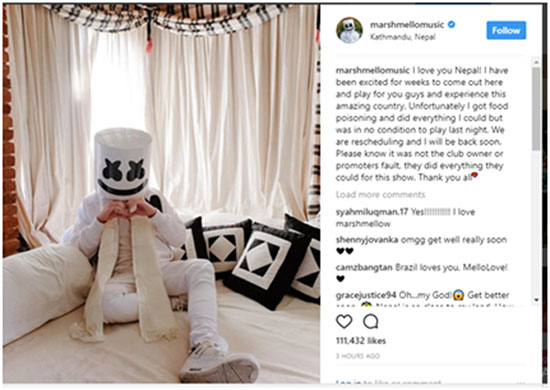 7 held for cancelling Marshmello live concert to face fraud charges