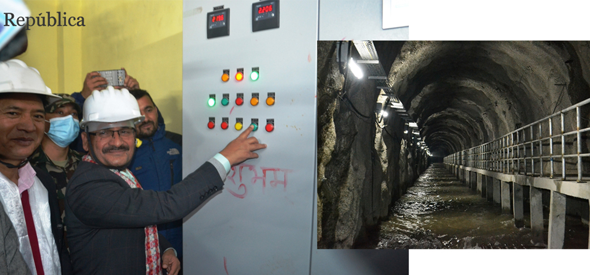 14 km of tunnel of Melamchi Drinking Water Project filled with water