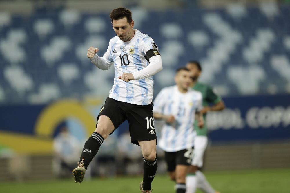 Messi breaks Argentina's record for caps at Copa America win