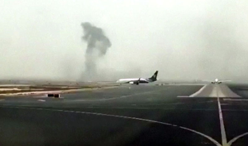 Emirates airliner with 300 onboard crash lands in Dubai