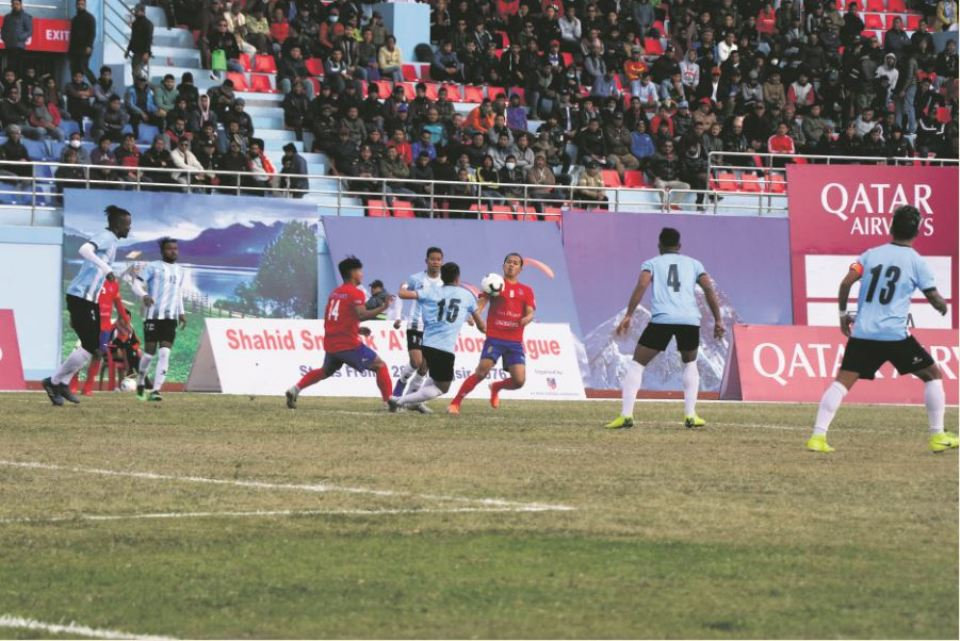 Chaos at the end as Manang, Machhindra play 2-2 draw