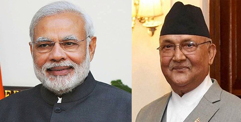 Modi calls Oli to wish Happy New Year