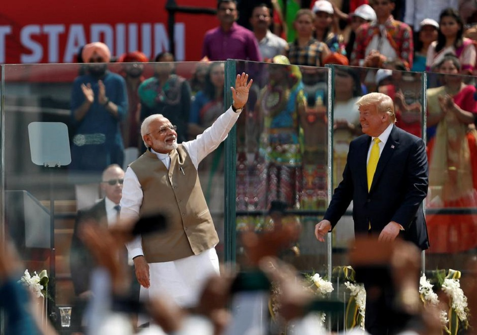 'Namaste Trump': Modi holds huge rally for U.S. president's India visit