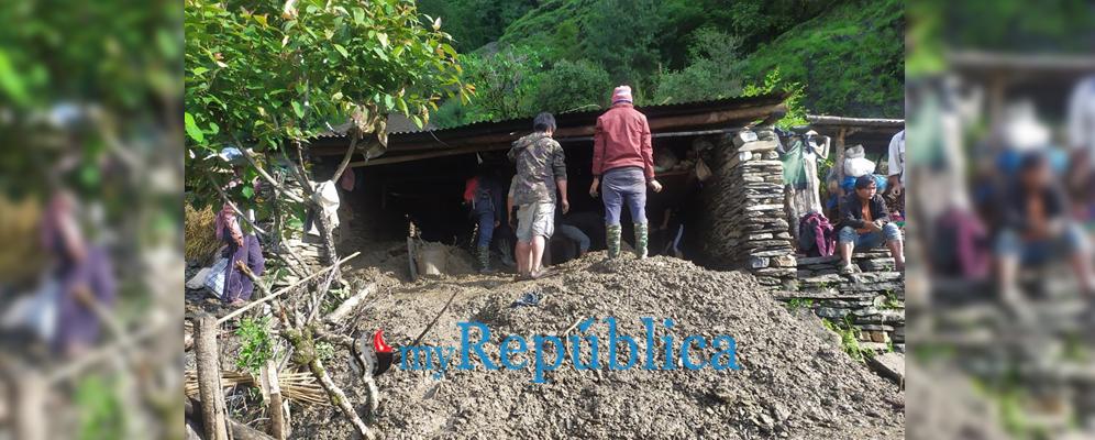 Myagdi landslide kills two