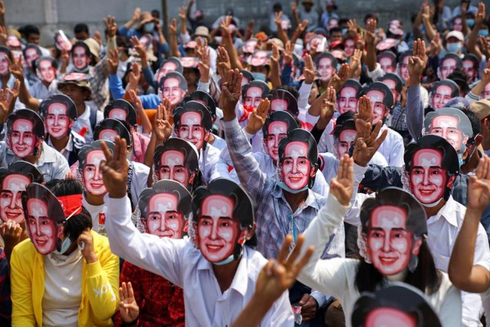 More Myanmar protests planned as Suu Kyi's lawyer dismisses bribery claims