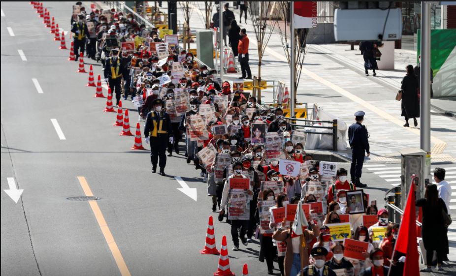 Thousands march in Tokyo to protest Myanmar coup, biggest Japan demonstration so far