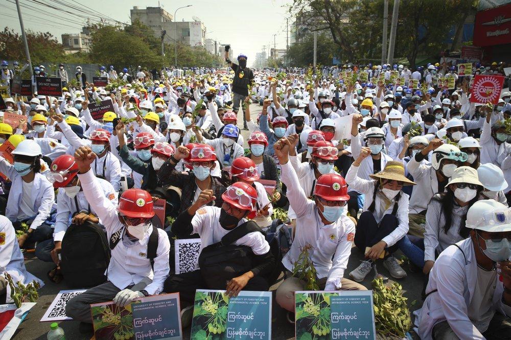 Shots, tear gas as police in Myanmar intensify use of force