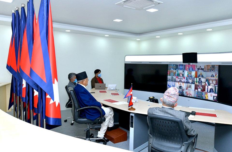PM Oli calls for global response to fight coronavirus