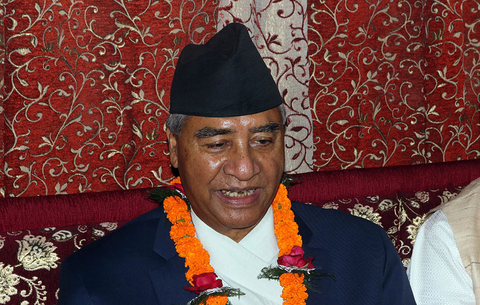 Everyone's right ensured in democracy: President Deuba