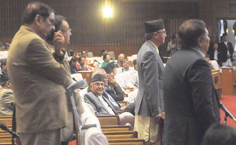 NC stalls parliament over quake grants