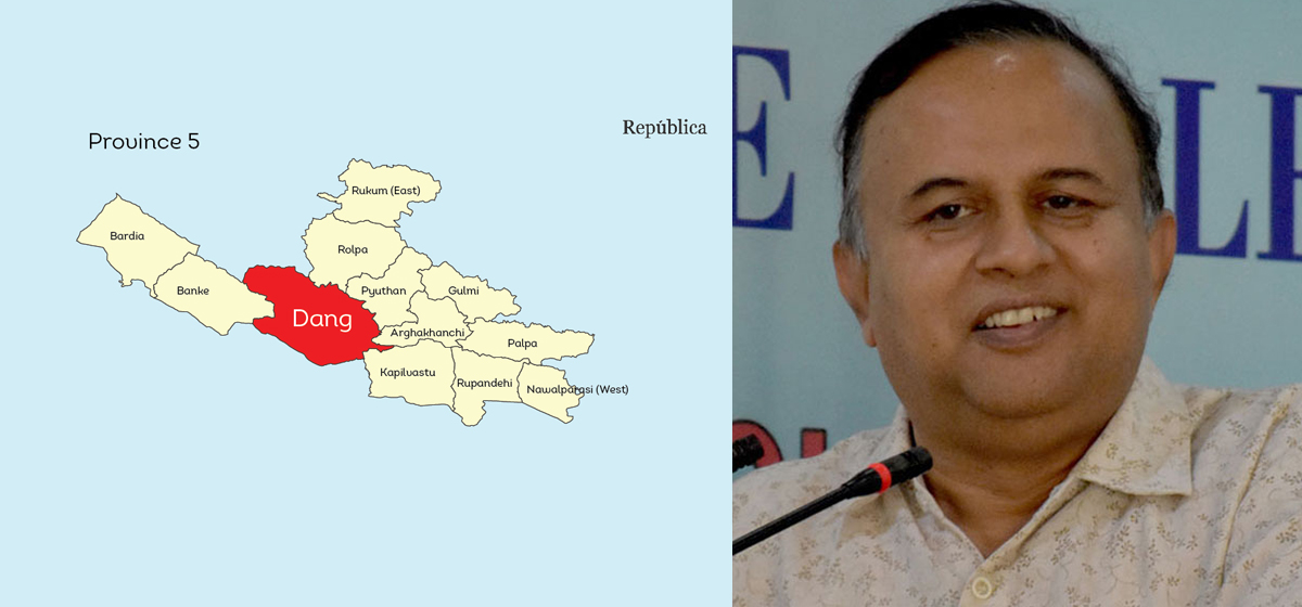 NCP issues whip to its provincial lawmakers to vote for Lumbini as Province 5's name and Dang as capital