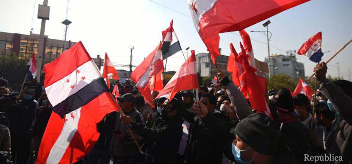 Nepali Congress staging protests against House dissolution in all 753 local units of govt today