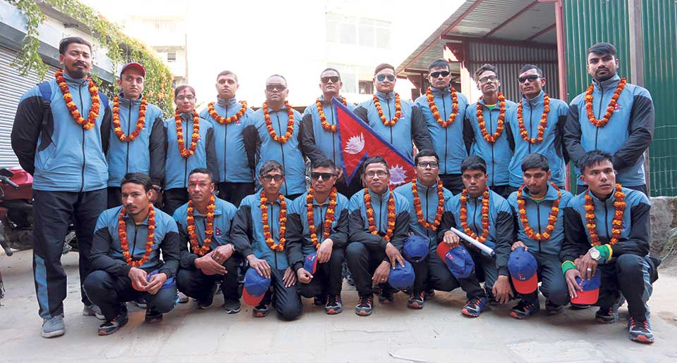 Nepal off to Pakistan to take part in World Cup of blind