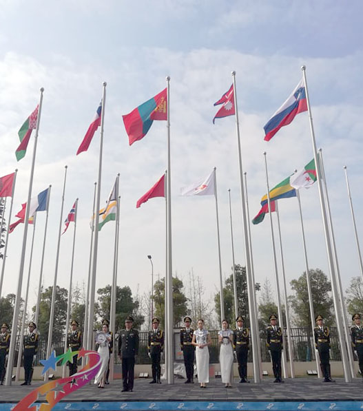 Nepal hoists national flag in World Military Summer Games