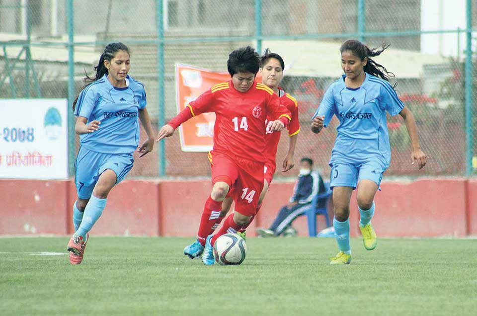 NPC, Central win in women's football league