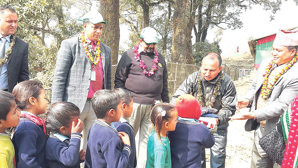 Nabil Foundation supports students in Dolakha