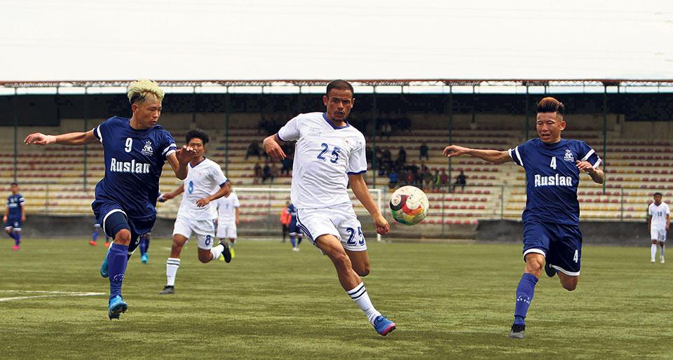 Basnet brace inspires Satdobato win in B-Division League