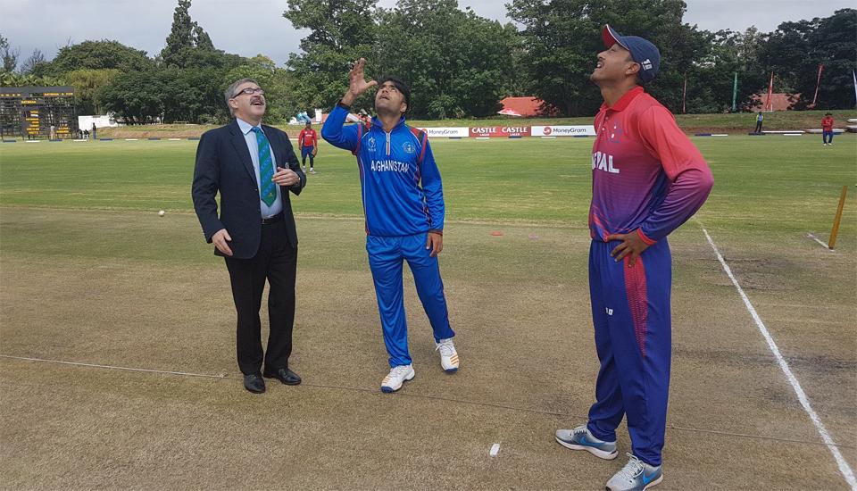 Nepal batting against Afghanistan after winning toss