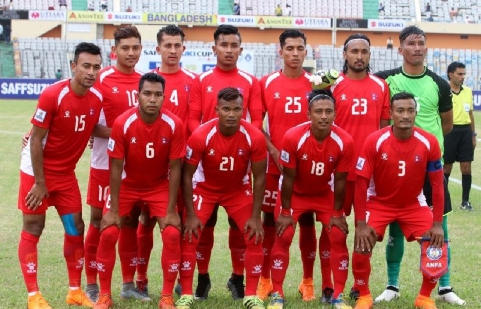 Members of National Football team arrive in Kathmandu for indoor training