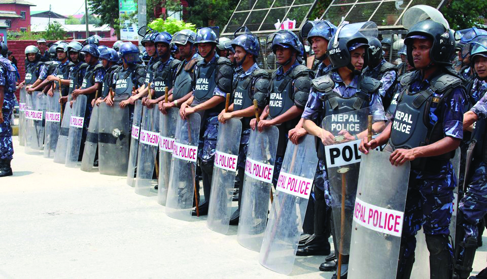 Security forces on high alert following PM Oli's controversial move