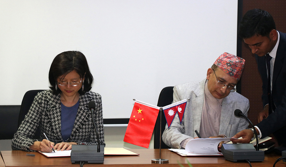 Chinese support to reconstruct Tatopani border point