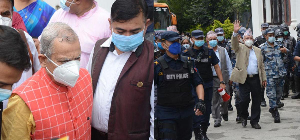 Nepal, Thakur reach Election Commission
