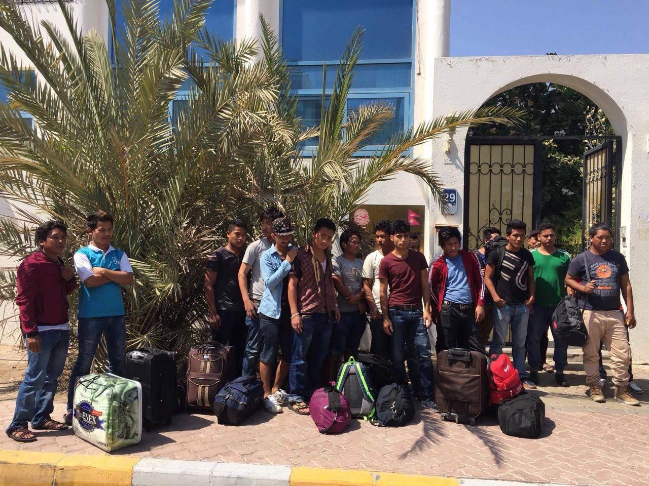 Stranded Nepali workers reach embassy in UAE