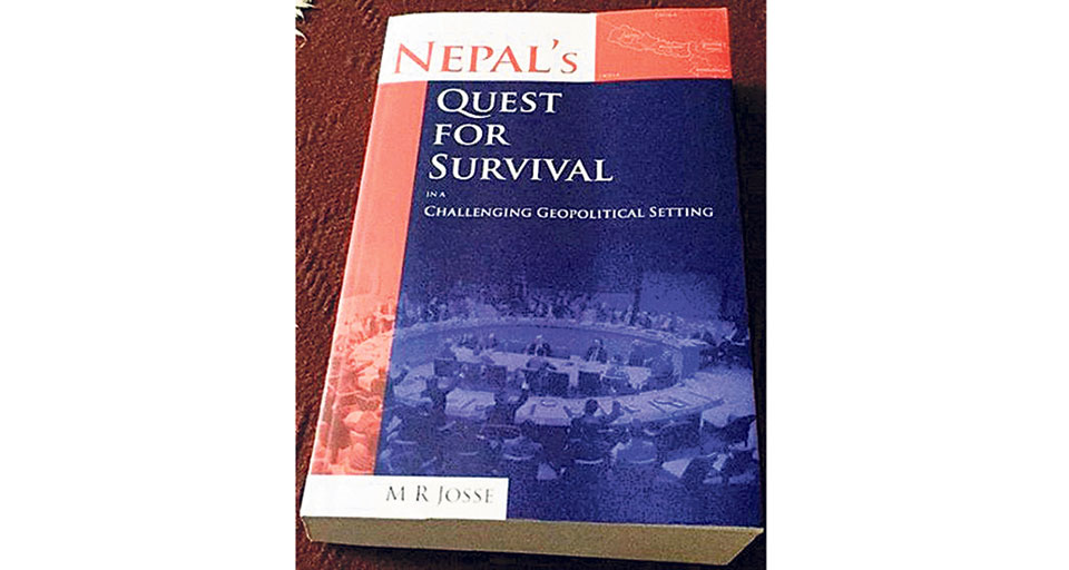 Former NPC veep Sharma releases Josse's book on Nepal's Quest for Survival