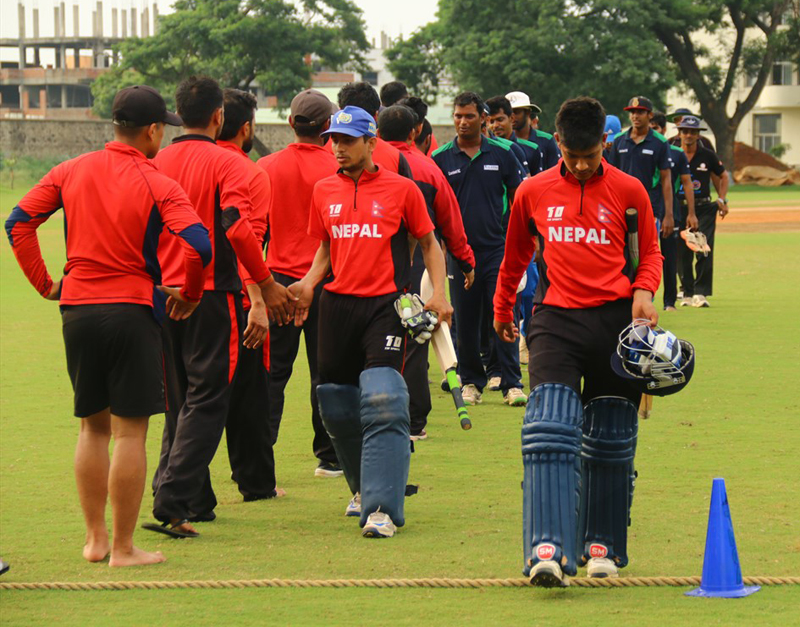 Nepal bites dust in a nail-biting final practice match