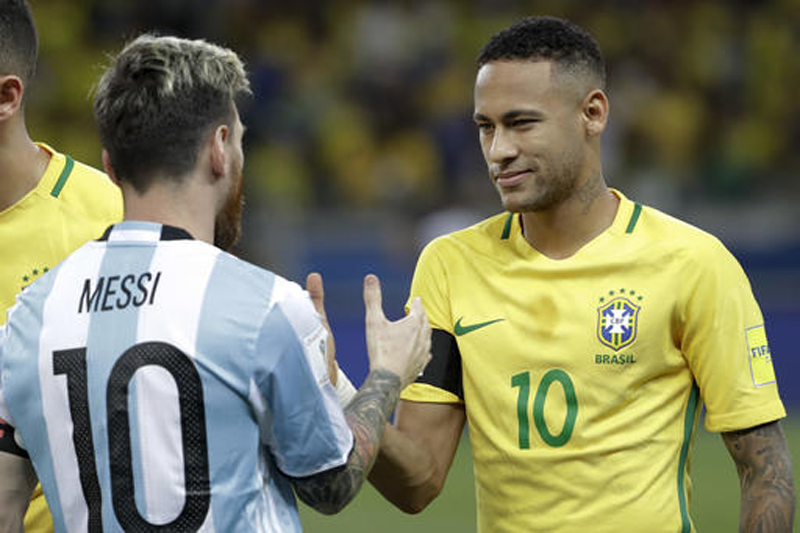 Brazil's Neymar takes honors, Messi returns for Argentina