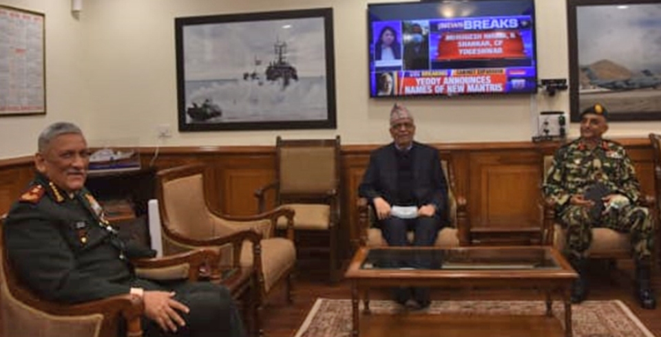 Nepal's ambassador to India calls on Chief of Defense Staff of Indian Army