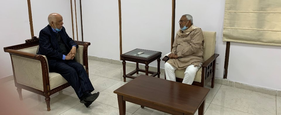 Ambassador Acharya holds meeting with Bihar CM Nitish Kumar