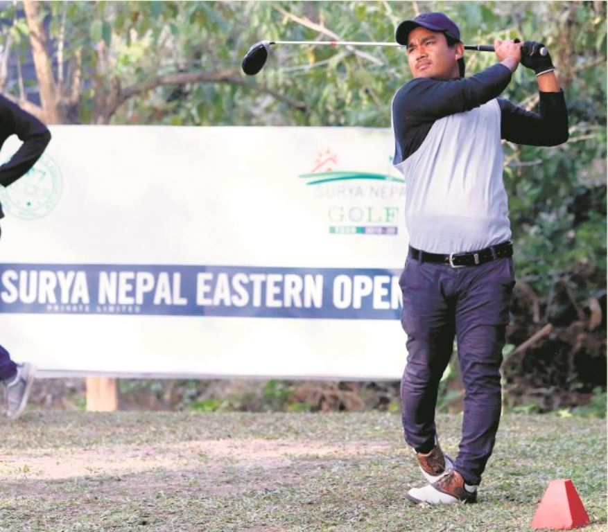 Niraj Tamang leads after first round