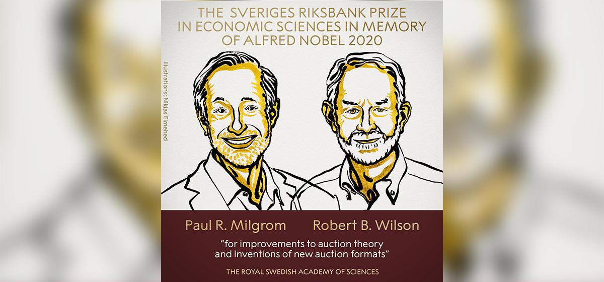 Americans Milgrom, Wilson win Nobel prize in economics