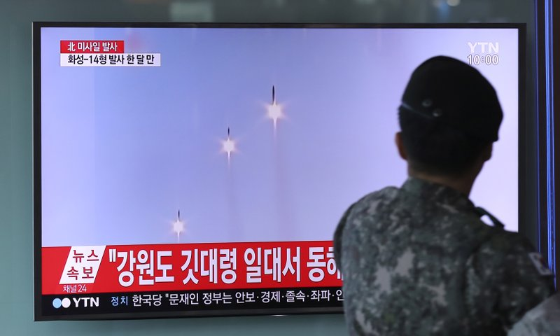 North Korea fires 3 short-range missiles; US says tests fail
