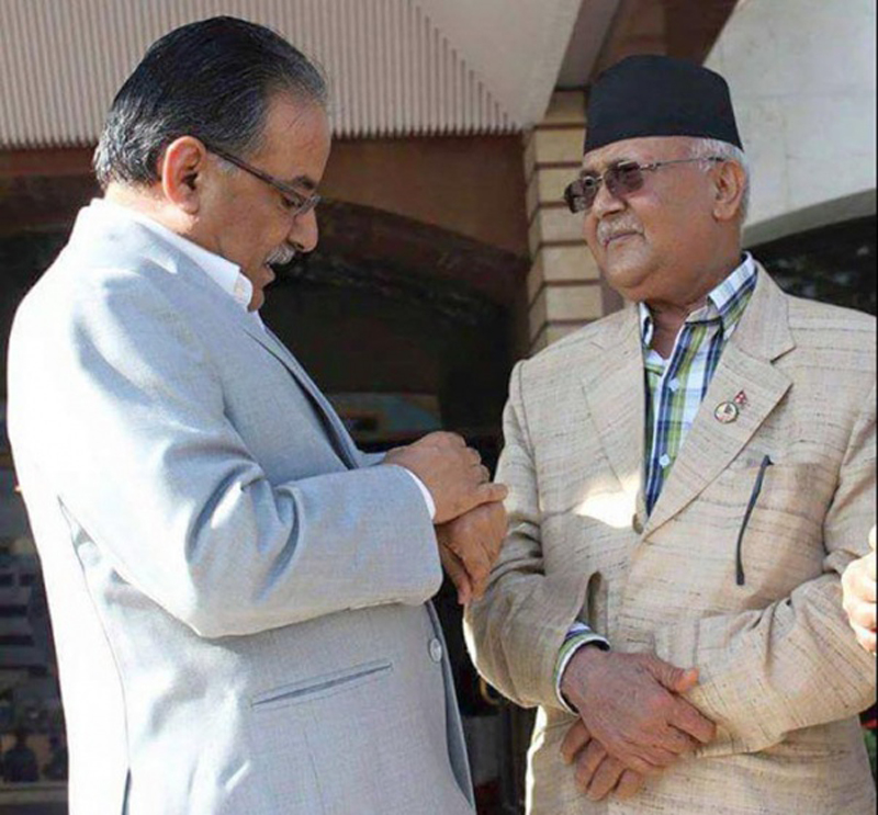 Oli, Dahal agree to make fresh push for party unification