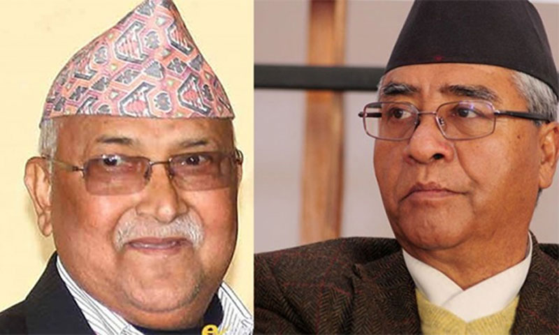 NC President Deuba meets with UML Chair Oli